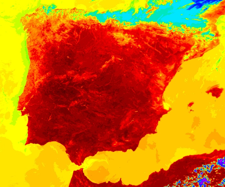 HEATWAVE ROASTS SUNNY SPAIN