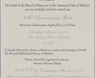 AN INVITE TO ACM'S ANNIVERSARY GALA