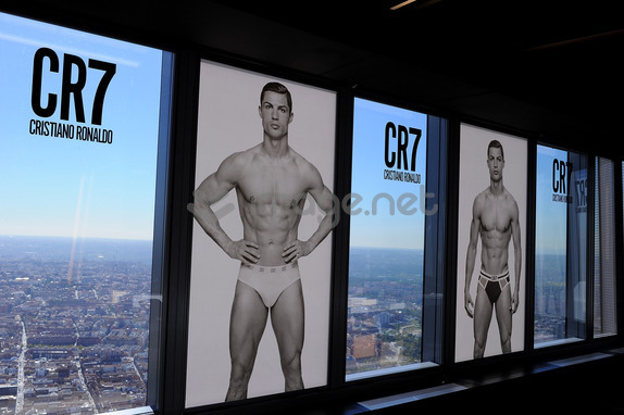 FOOTBALL MEGA-STAR CRISTIANO RONALDO BARES POWERFUL PHYSIQUE IN MADRID