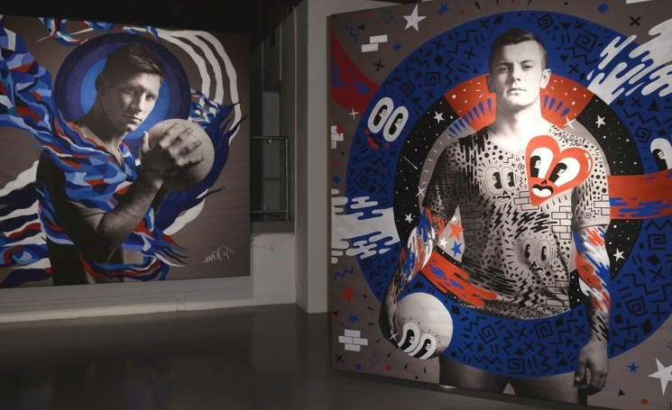 THE WORLD'S BEST FOOTBALLERS IN STREET ART