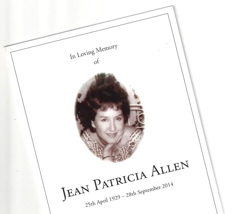 Obituary: JEAN ALLEN