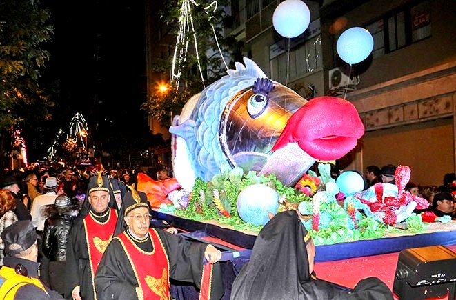 THE MODEST MACKERELS & THE SINFUL SARDINE AT THE SPECTACULAR CARNIVAL OF TENERIFE