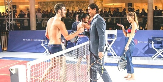 STRIPTEASE AT THE POP-UP TOURNAMENT: The Unveiling of Rafa Nadal's Ambassadorship for Tommy Hilfiger