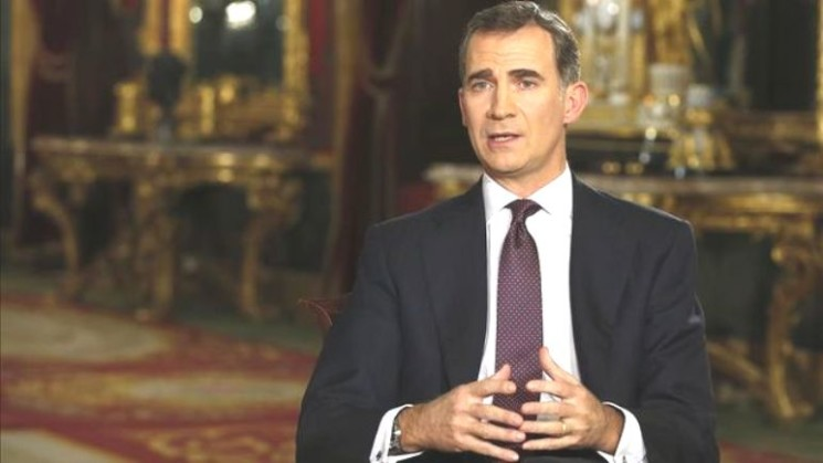 FELIPE VI OF SPAIN GREETS HIS PEOPE ON CHRISTMAS EVE