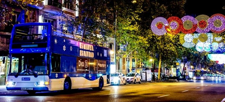 MADRID LIGHTS UP — HOP ON THE CHRISTMAS BUS!