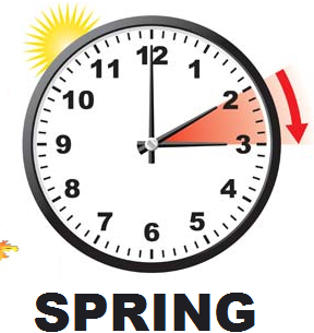 YA ES PRIMAVERA IN SPAIN. SMILE & DON'T FORGET TO FORWARD THE CLOCK!