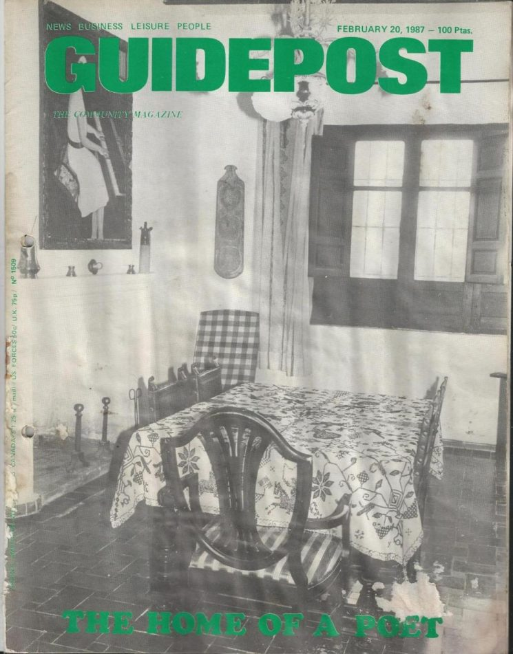 "GUIDEPOST REPRINT: ""THE HOME OF A POET"", 20 February 1987 (PART 1)"