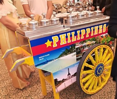 PHILIPPINE FIESTA FOOD AT THE EMBASSY RECEPTION IN THE HOTEL INTERCON