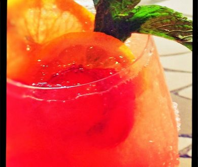 SPARKLE IN THIS HEAT? YOU DON'T NEED THAT, UNLESS IT'S SPARKLING SANGRIA!