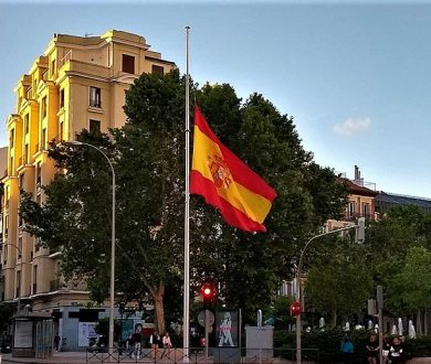 MADRID OBSERVES A MINUTE OF SILENCE FOR THE COVID-19 VICTIMS